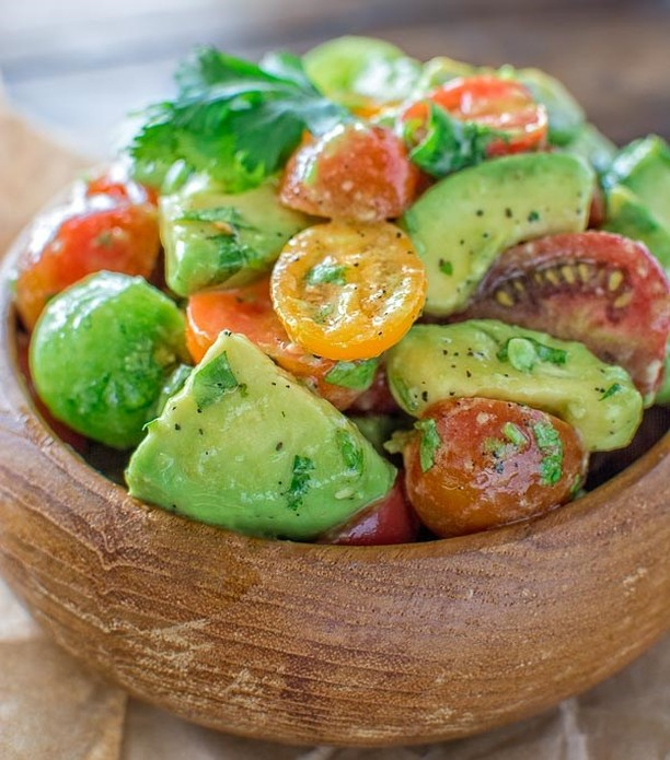 Avocado Tomato Salad Healthy Delicious Salad for your Diet Forhellip