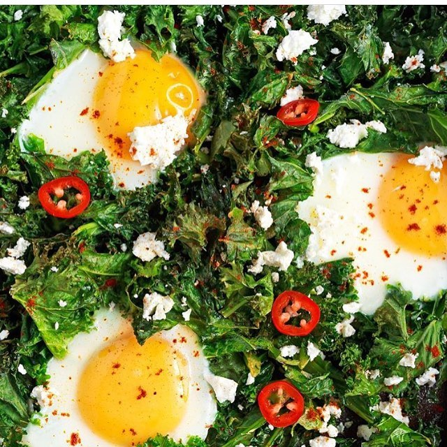 Chili kale with eggs Like or not? For healthy foodhellip