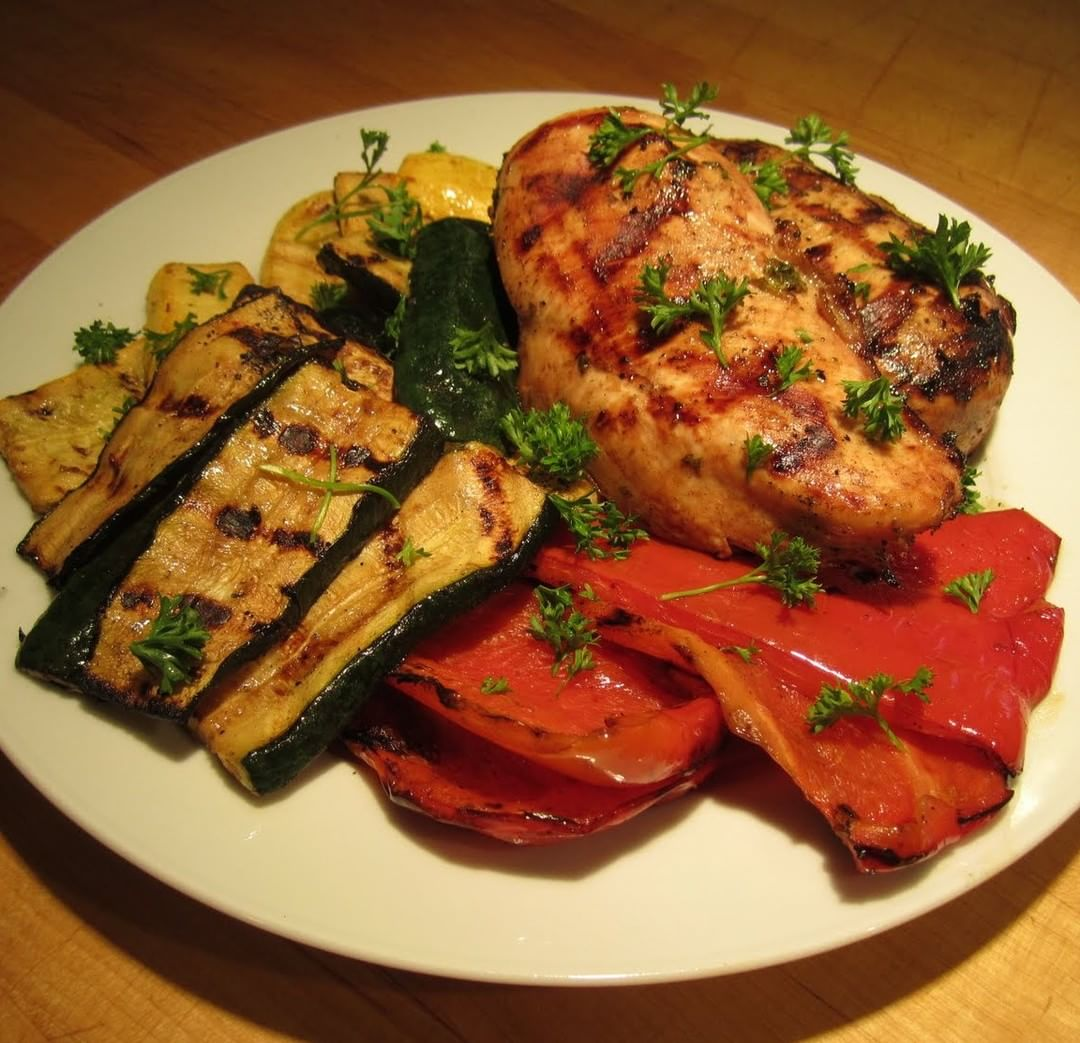 Marinated Grilled Chicken Breast and Veggies Does it Taste Good?hellip