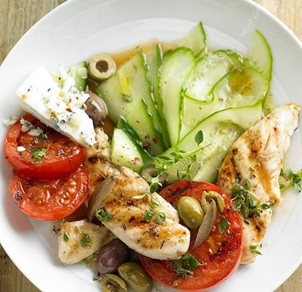 Chicken Tomato amp Cucumber Perfect Salad for Dinner Tag ahellip